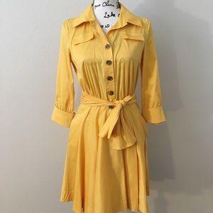 Diane Von Furstenberg DVF yellow Rosina dress 8
